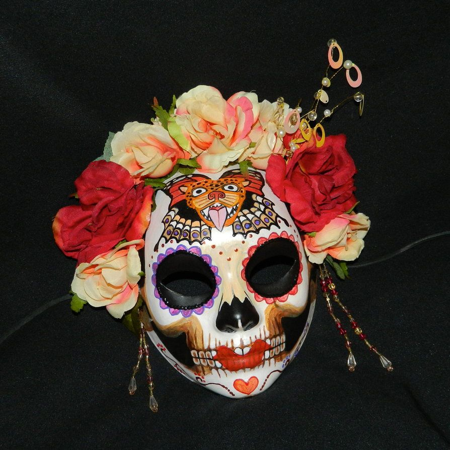 b4a6f1d0f2bb cultural masks from around the world | Tezcatlipoca Jaguar God Mask Day of  the Dead by *Masquefaire on .