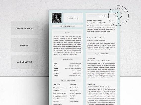 Resume Template Professional Resume Creative Resume Curriculum - download word resume template