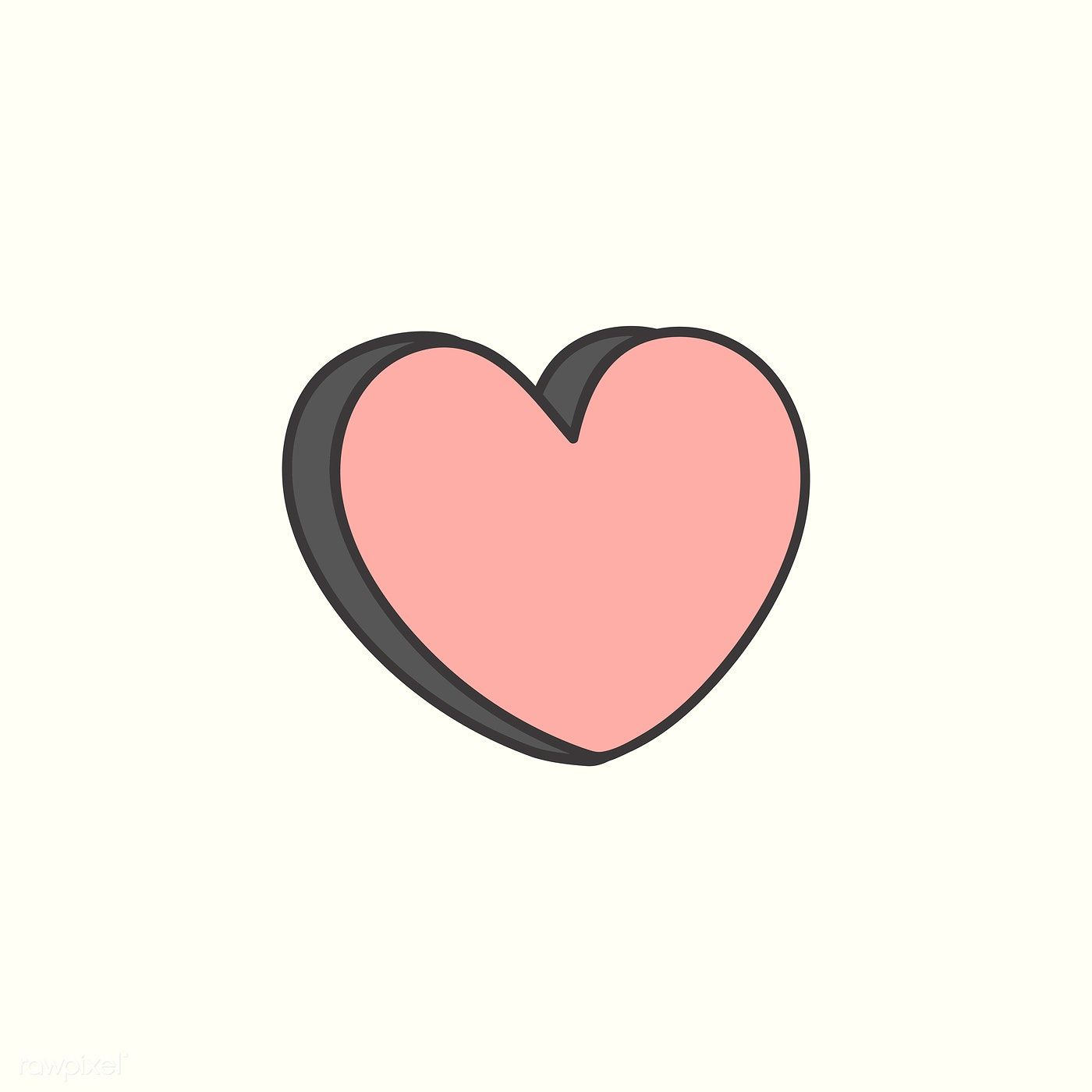 Pink heart design icon vector | free image by rawpixel com