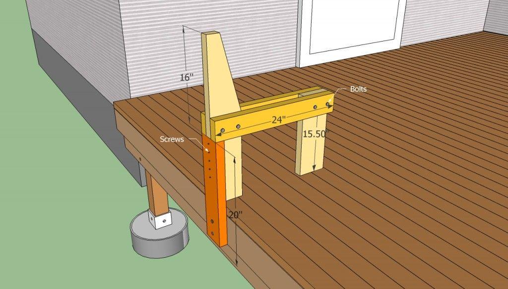 Deck Bench Plans Free Building a deck, Diy deck, Deck