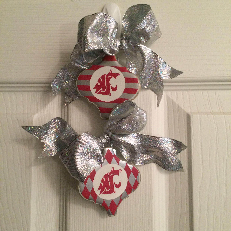WSU Christmas Ornaments!  Go Cougs!