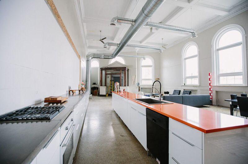 Bankgebouw naar woongebouw in Detroit