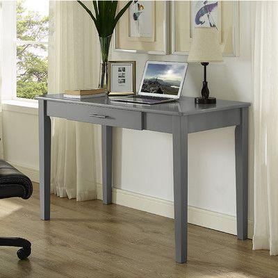 beachcrest home cascade writing desk finish gray products wood rh pinterest com