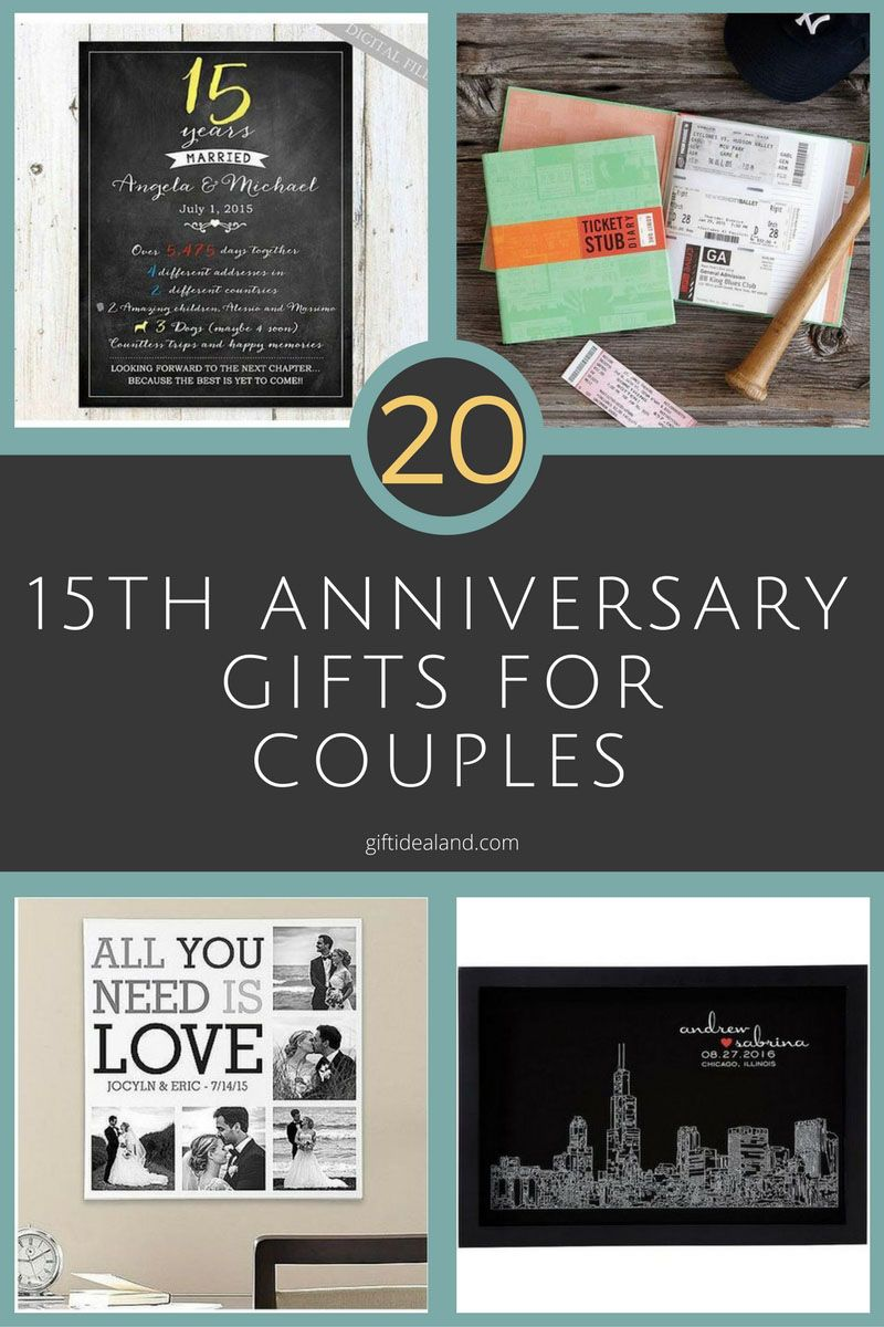 20 Great 15th Anniversary Gifts For S Husband Wife Him Her