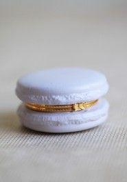 confection macaron trinket in lavender