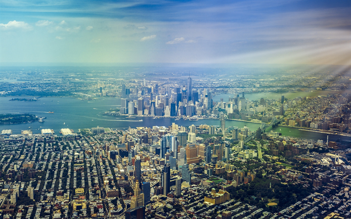 Lataa kuva New York, kaupunkikuva, skyline, metropoli, USA, Amerikassa