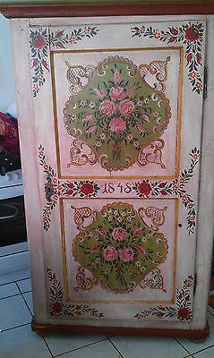 Antik Schrank 1848 Altrosa Rosa Pink Bauernschrank Wascheschrank Kleiderschrank Antike Schranke Bauernschrank Altrosa