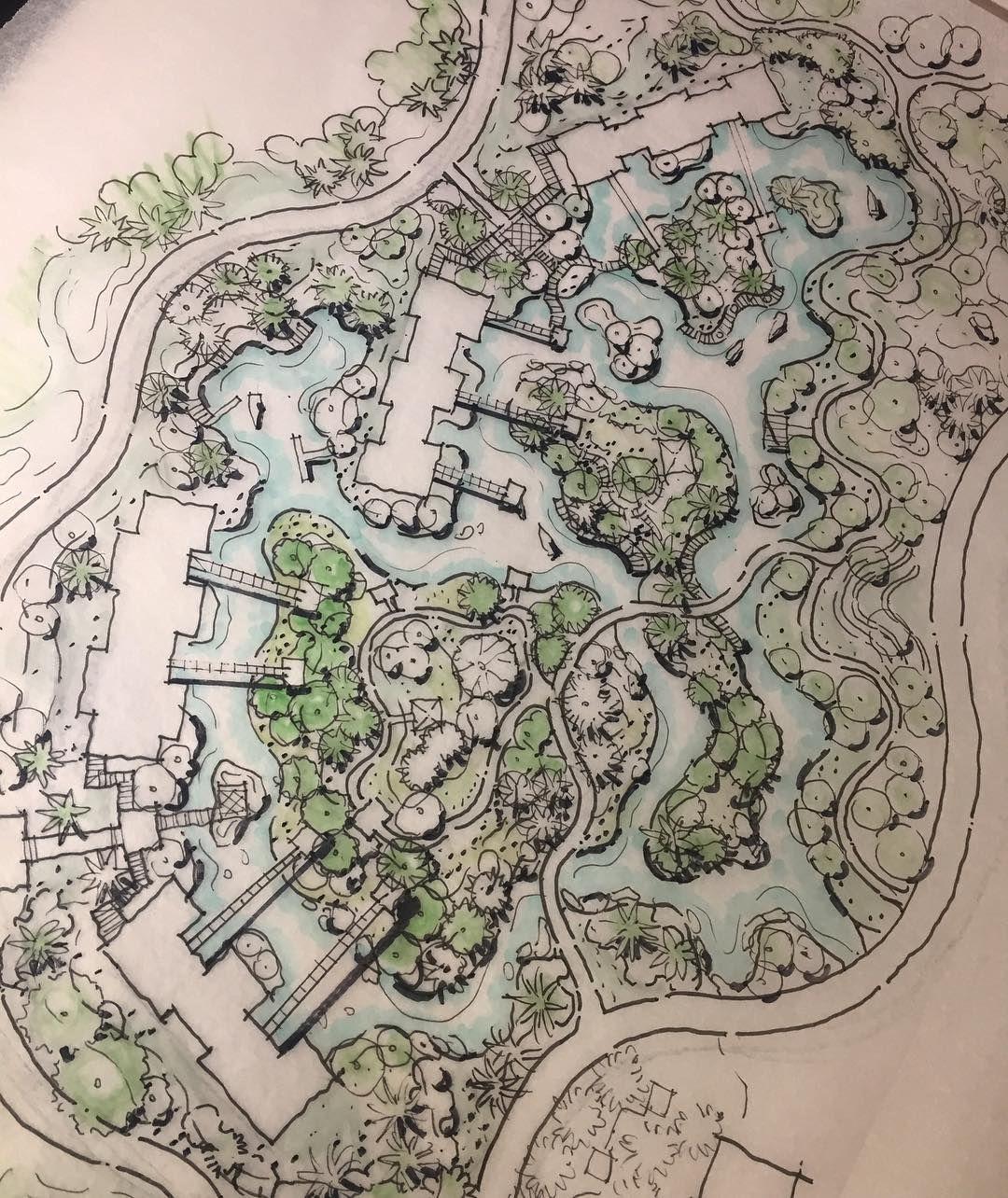 Resort Sketch Initial Concept Landscapearchitecture