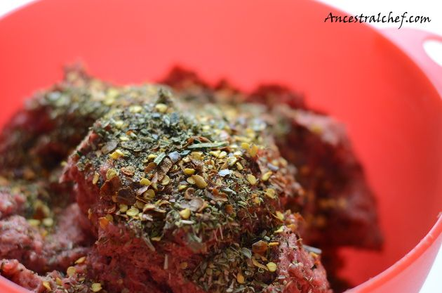 Grass Fed Beef and Liver With Spices