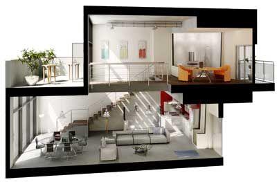 Loft peque o buscar con google plan pinterest loft for Loft modernos exterior