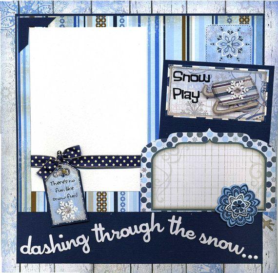 Dashing Through The Snow - Premade Winter Scrapboo