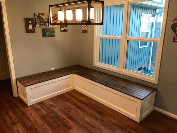Banquettecorner Benchkitchen Seatingl Shaped Etsy In 2021 Kitchen Seating Corner Bench Seating Diy Farmhouse Table Plans