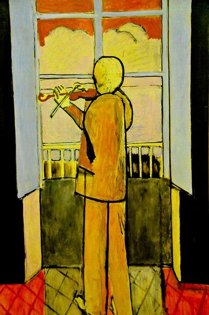 Henri Matisse - Le violoniste a la fenetre