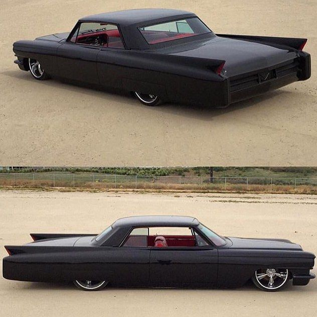 GASs.cans Murdered out 63 Caddy owned by @jasondhillon built by @91octane #gasscans #caddy #slammed #soclean