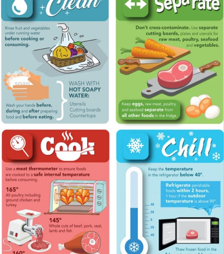 Food Safety Infographic Food Safety Infographic Contaminated Food Food Safety