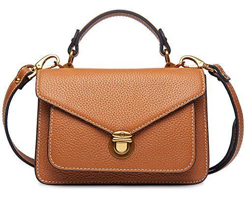3154c11c5e PIFUREN Women s Small Leather Tote Top Handle Handbag Cross body Bag ...