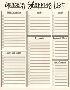 shopping list template pages Google Search spice market