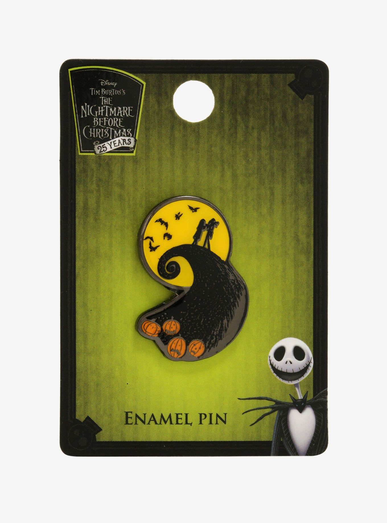 The Nightmare Before Christmas Spiral Hill Enamel Pin - BoxLunch ...