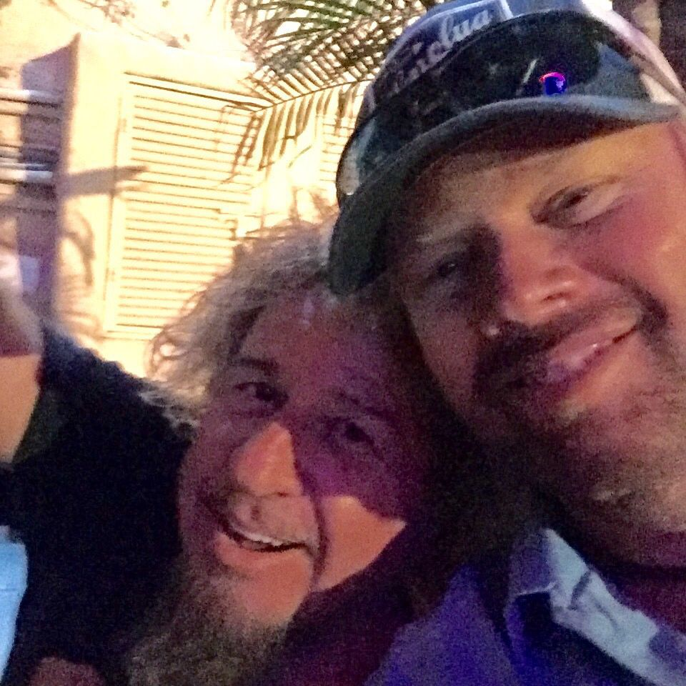 sammyhagar with tobykeith tribute hanging in cabo