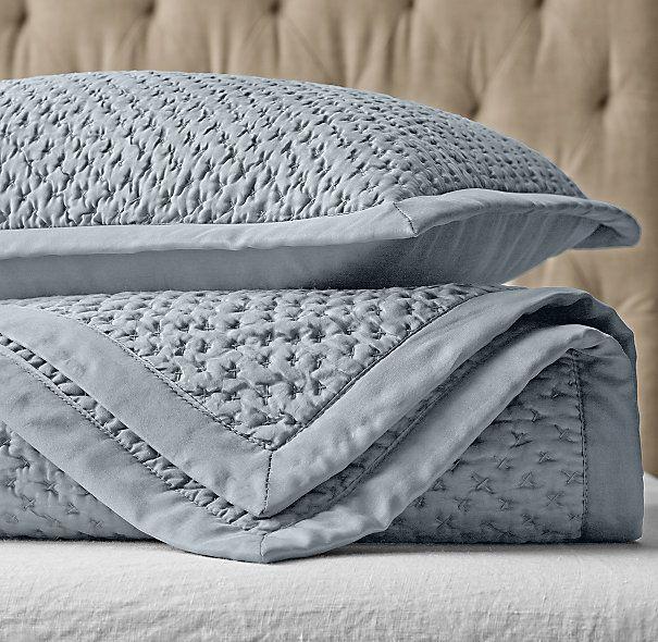 Washed Silk Quilt Sham Couvre Lit Idees Pour La Maison Et Maison