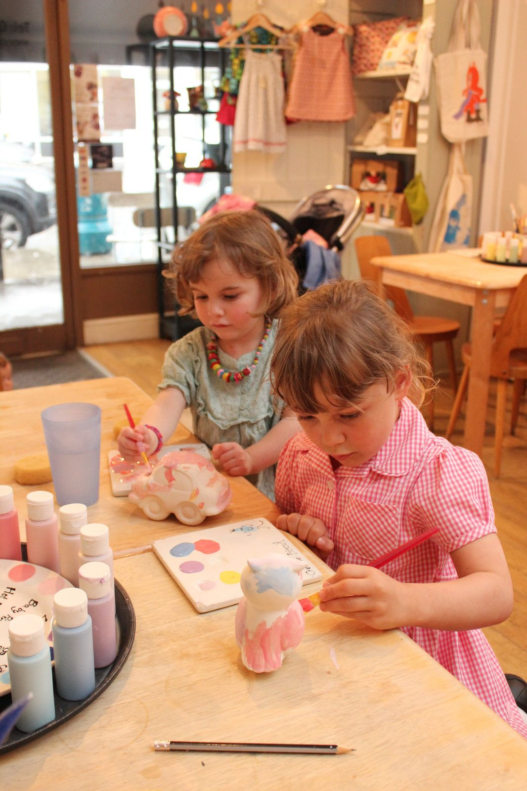 Pottery painting at Creative Biscuit Ceramics Cafe #ceramiccafe