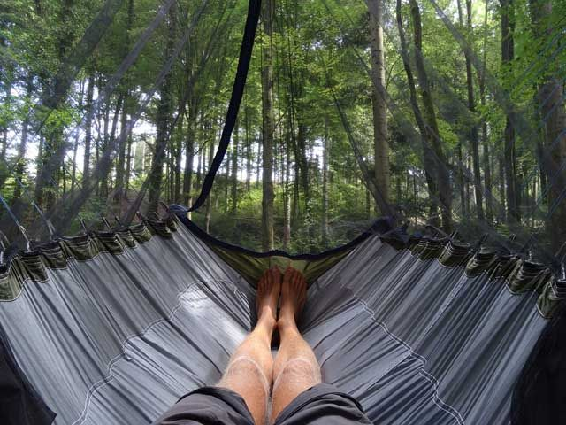 Camping Toilet Gamma : Degree hammock gamma view from inside backpacking
