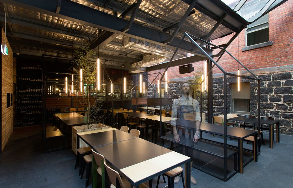 Indoor Outdoor Bar Lighting Textures Shapes Melbourne Restaurants Bar Design Awards Restaurant Bar