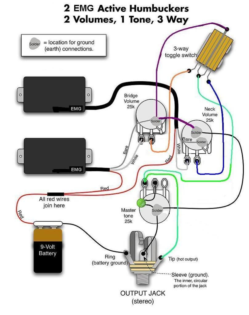les paul emg wiring diagram wiring diagram u2022 rh championapp co EMG HZ Pickups Wiring-Diagram 1959 Gibson Les Paul Wiring Diagram for Guitar