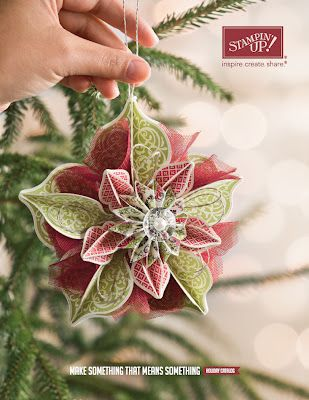 Create 'N Stamp with Elaine: Paper Ornament Tutorial