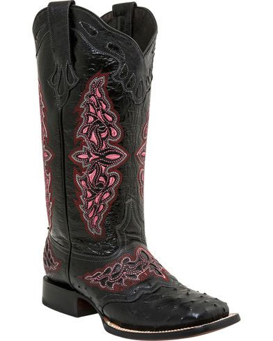 335aaed1022 Lucchese Women's Handmade Black Amberlyn Full Quill Ostrich Boots ...
