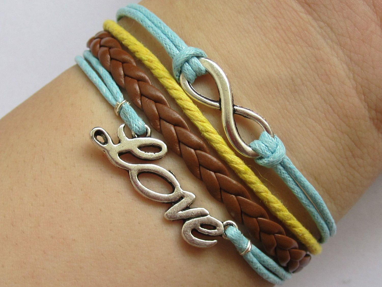 love & infinity bracelets