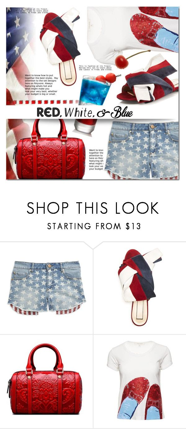 """""""Red, White and Blue Fashion"""" by barbarela11 ❤ liked on Polyvore featuring Tinsel, N°21 and Marc Jacobs"""