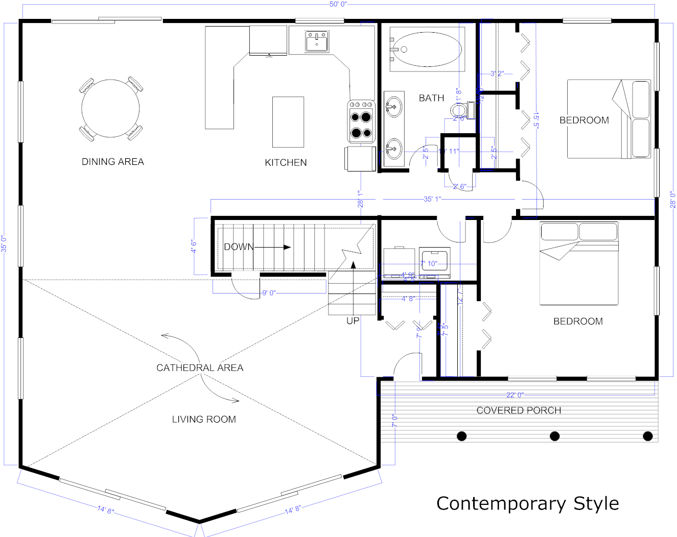 Example blueprint created with smartdraw plans rustic style example created with smartdraw blueprint software draw house plan how floor plans build your own make best free home design idea inspiration malvernweather Choice Image