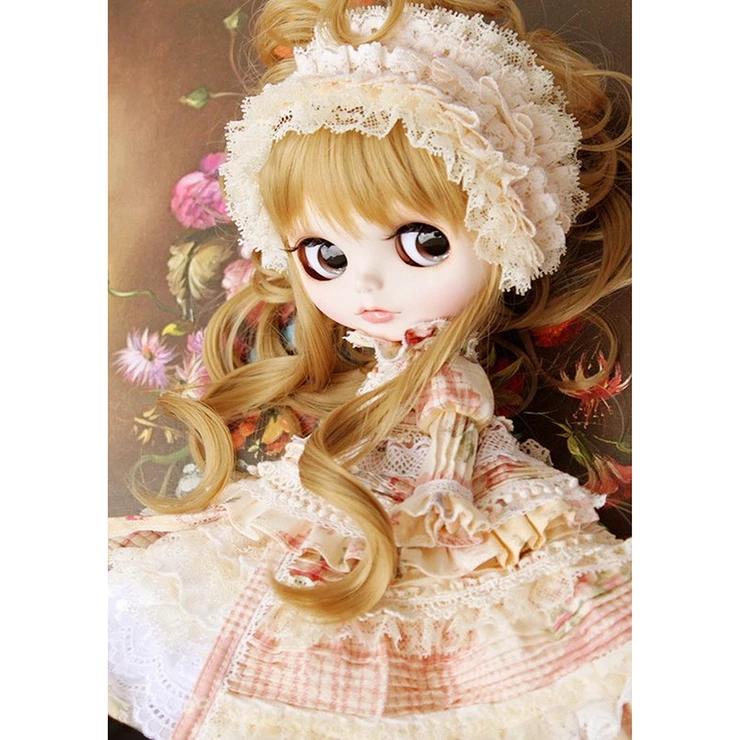Diamond Painting Full Round Warm Girl Dolls Cute Dolls Diamond Painting Blythe Dolls