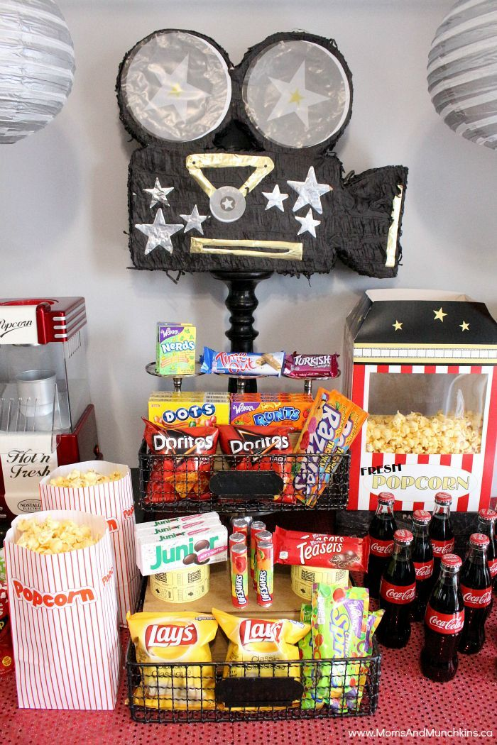 Movie Night Party Ideas Birthday party for teens, Movie