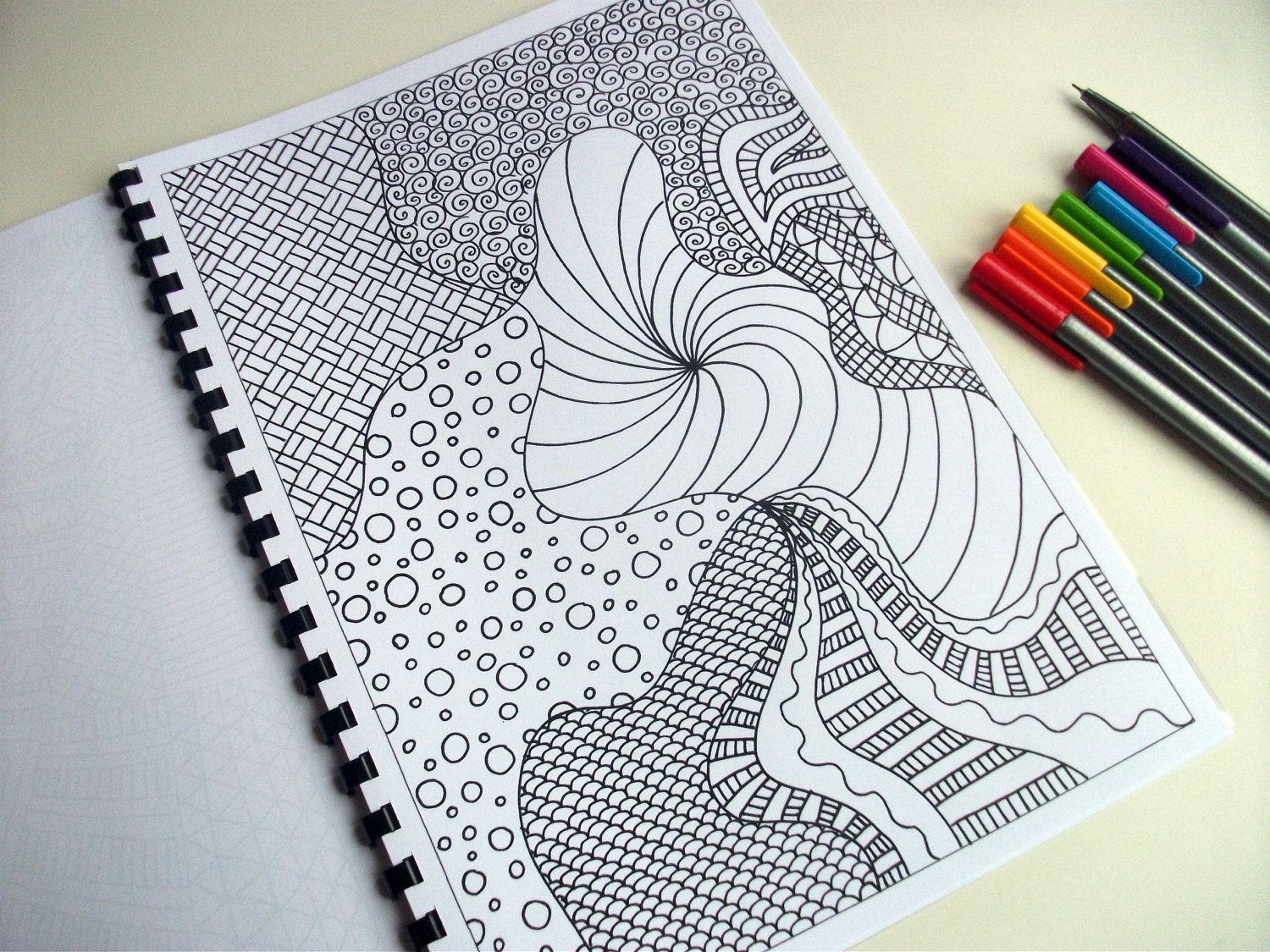 Zentangles Basic Beginner Patterns Printable Coloring