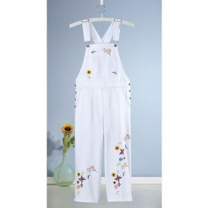 Embroidered Capri Alls - Women's Clothing, Unique Boutique Styles & Classic Wardrobe Essentials