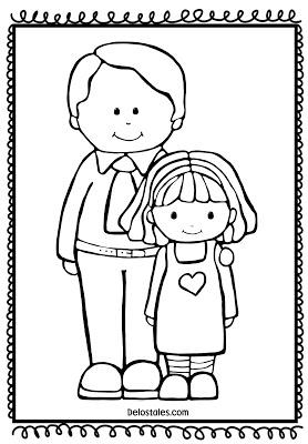 Dibujo Para Colorer Dia Del Padre Primaria Buscar Con Google Digital Stamps Coloring Sheets Fathers Day