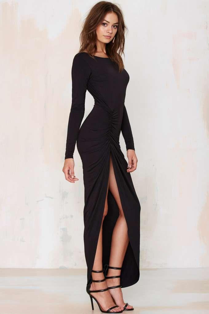 34f97a8c9382 Lioness Found Love Slit Dress - Black - Clothes