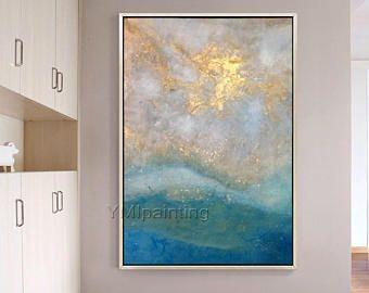 Peinture Abstraite Peinture Acrylique Sur Toile Originale Seascape Peinture  Photos Du0027Art Mur Pour Salon Moderne Abstrait Bleu Décoration Murale |  Pinterest ...