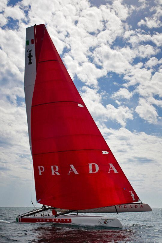 Look at that sail ;) - Luna Rossa AC45 training in Naples  Photo: © Carlo Borlenghi Photo/ Rossa Challenge