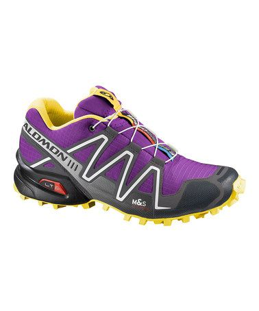 Take a look at this Purple & Yellow Speedcross 3 Running Shoe by Salomon on #zulily today!