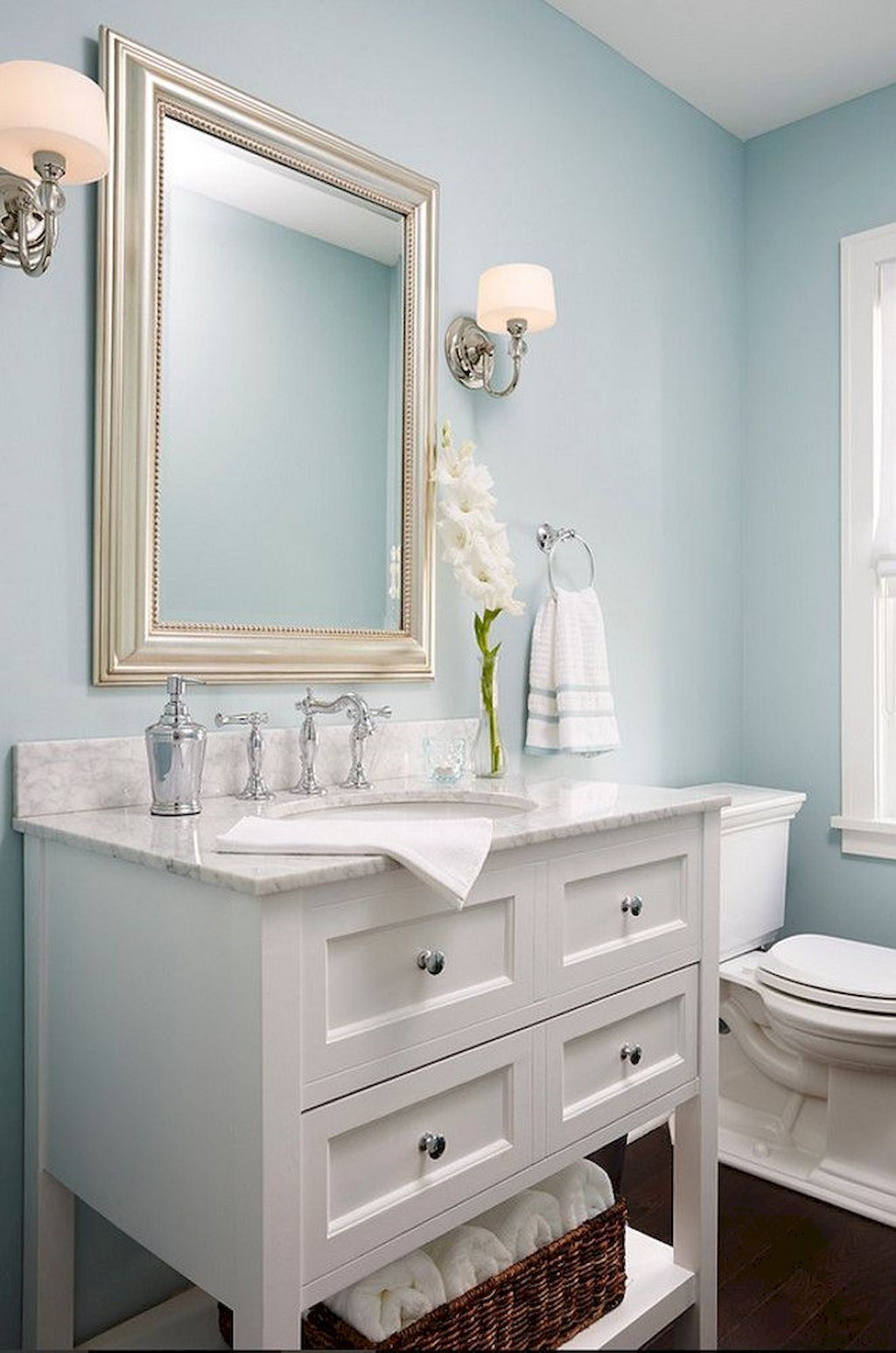 80 Guest Bathroom Makeover Decor Ideas On A Budget Light Blue Bathroom Blue Bathroom Decor