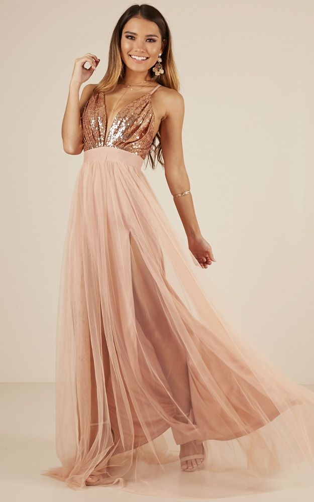 The Last Kiss Maxi Dress In Rose Gold Produced -   17 dress Bridesmaid tulle ideas