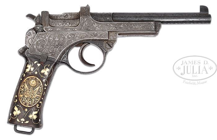 James D. Julia, Inc. - Extraordinary Engraved Mannlicher M1900, Presented to Sultan of Turkey (Collection of Dr. Geoffrey Sturgess)