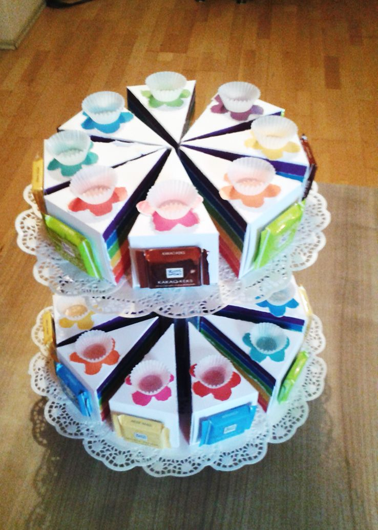 Torte zum Kindergeburtstag – Papier-Tortenstücke