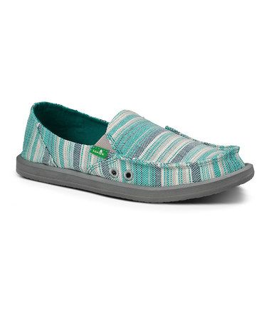 This Teal Donna Caroline Slip-On Shoe - Women by Sanuk is perfect! #zulilyfinds