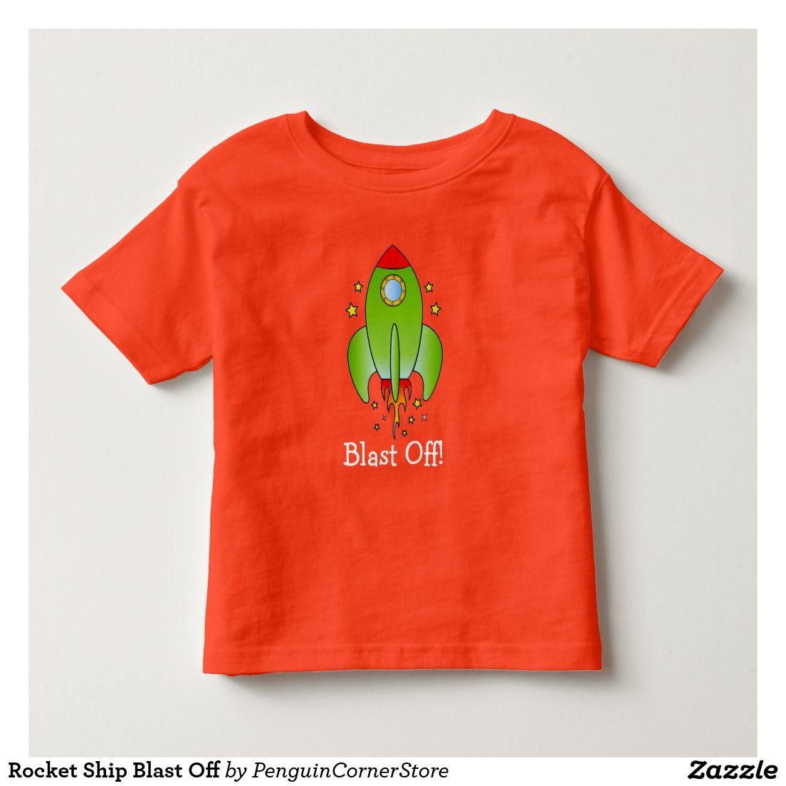 Rocket Ship Blast Off Toddler T-shirt