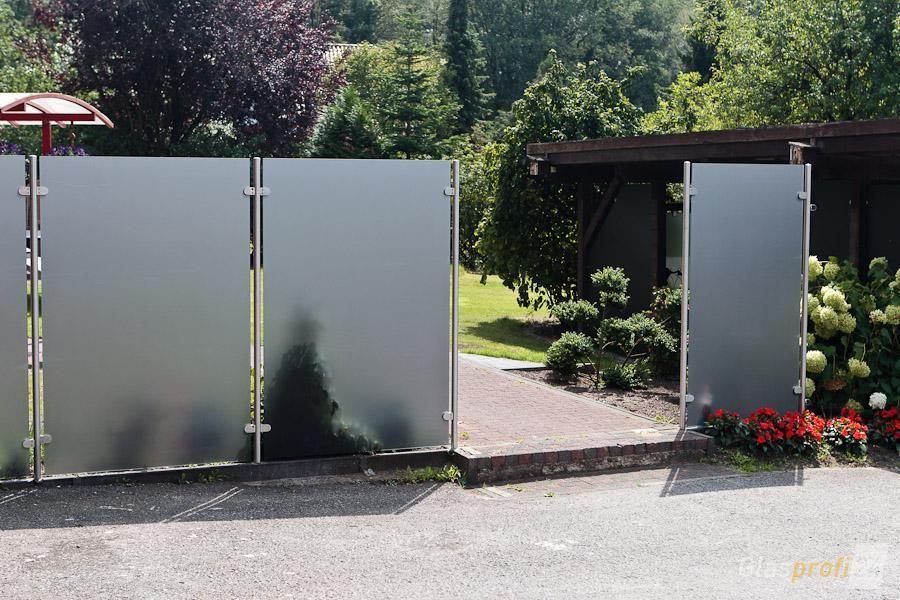 Glas-Edelstahl-Sichtschutz Transvent bis 1800 mm Höhe