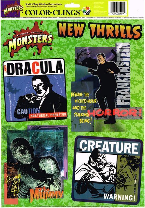 universal monsters window clings Halloween Stuff Pinterest - halloween window clings